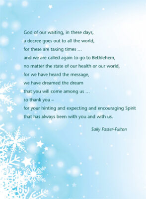 God of our waiting